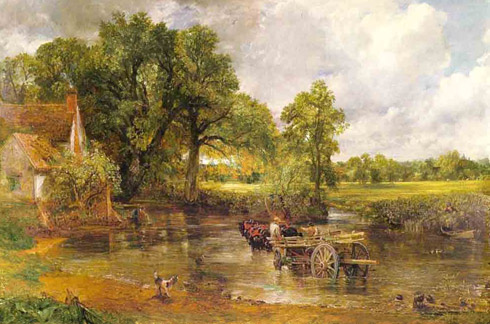 The Hay Wain, painting by John Constable, 1821